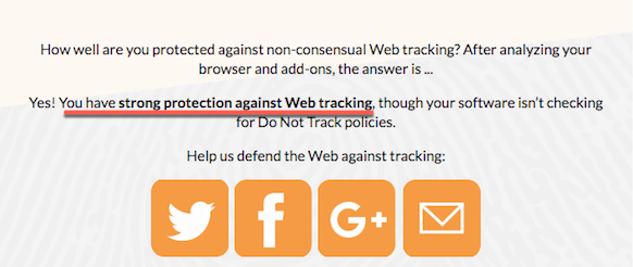 protected against tracking