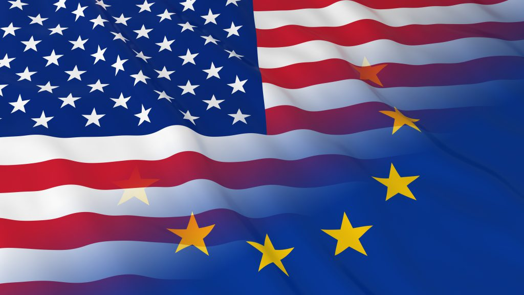 US-EU flags merge