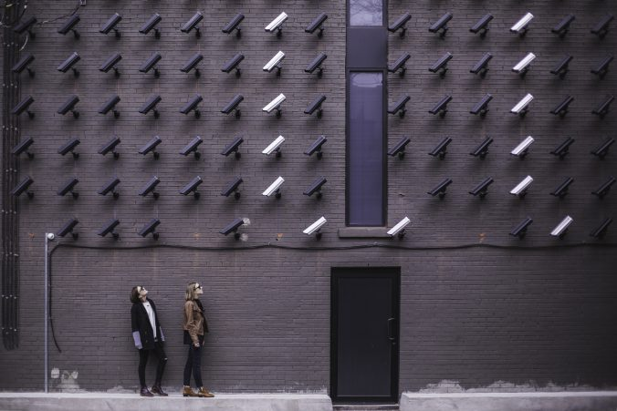 CCTV cameras looking at couple