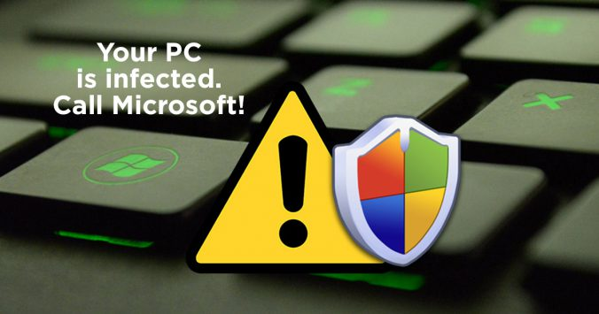 infected pc call microsoft