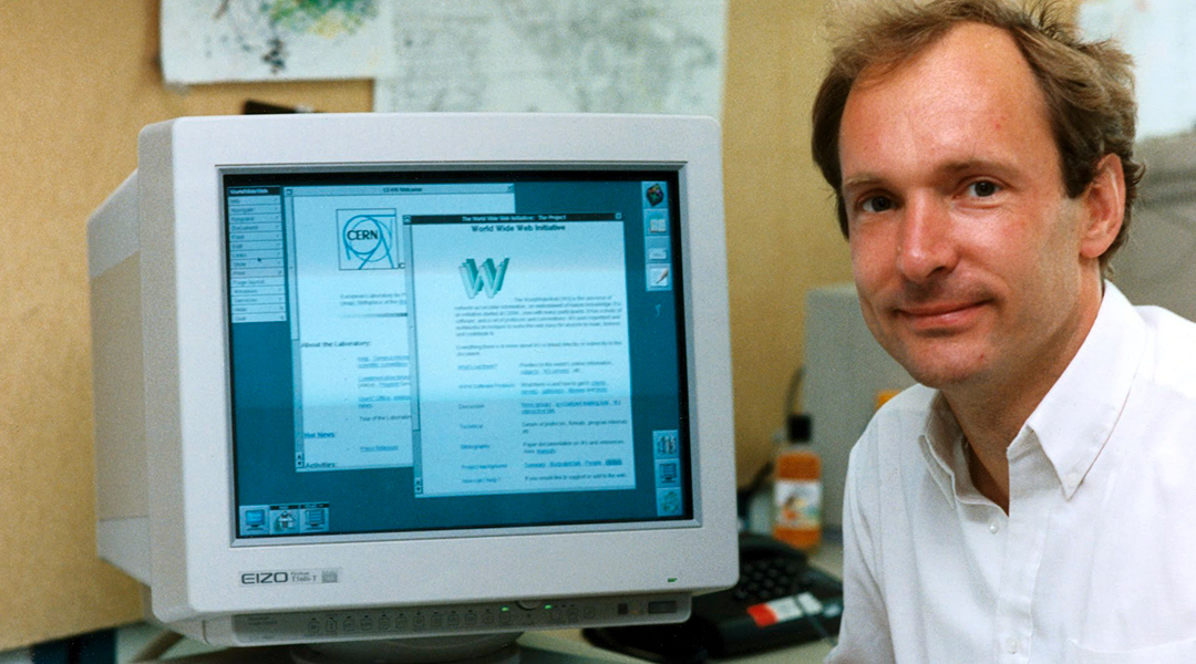 Tim Berners Lee, inventor of the worldwide web